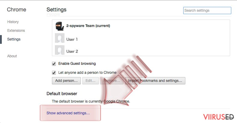 Kuidas lähtestada Google Chrome? hetktõmmis