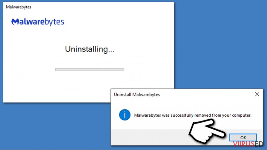 Finish Malwarebytes uninstall