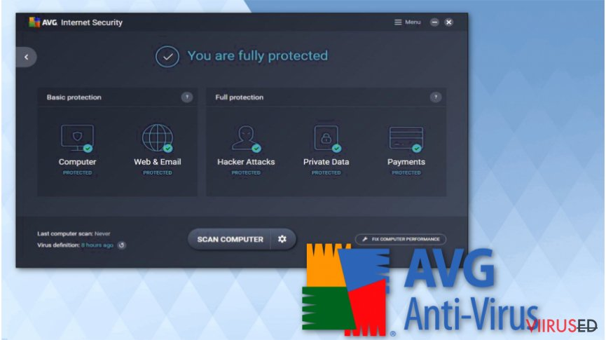 Employ AVG Antivirus software for free
