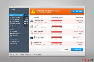 Advanced Mac Cleaneri ekraanitõmmis