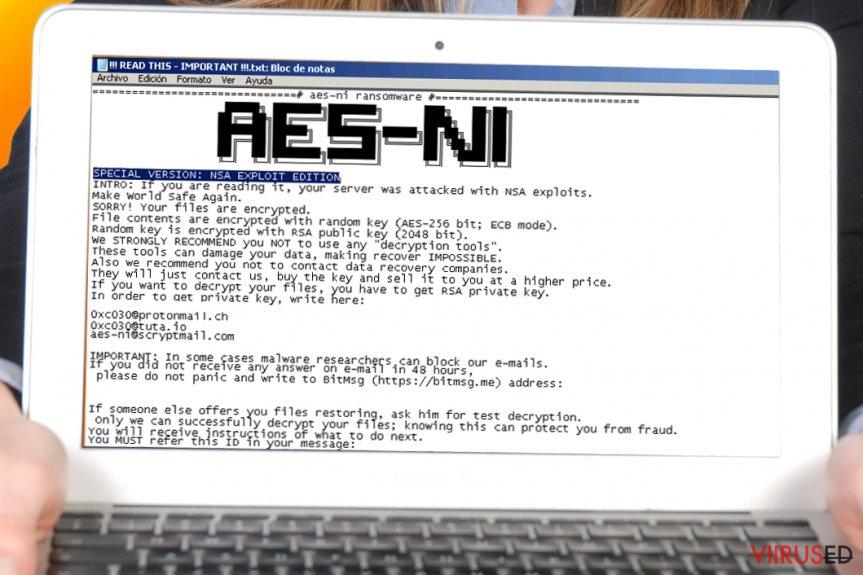 AES-NI lunavaraviirus hetktõmmis