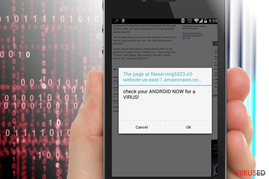 Amazonaws ümbersuunamised Androidile