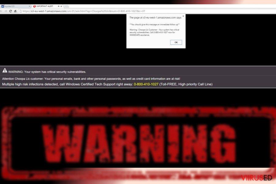 Amazonaws viiruse näide
