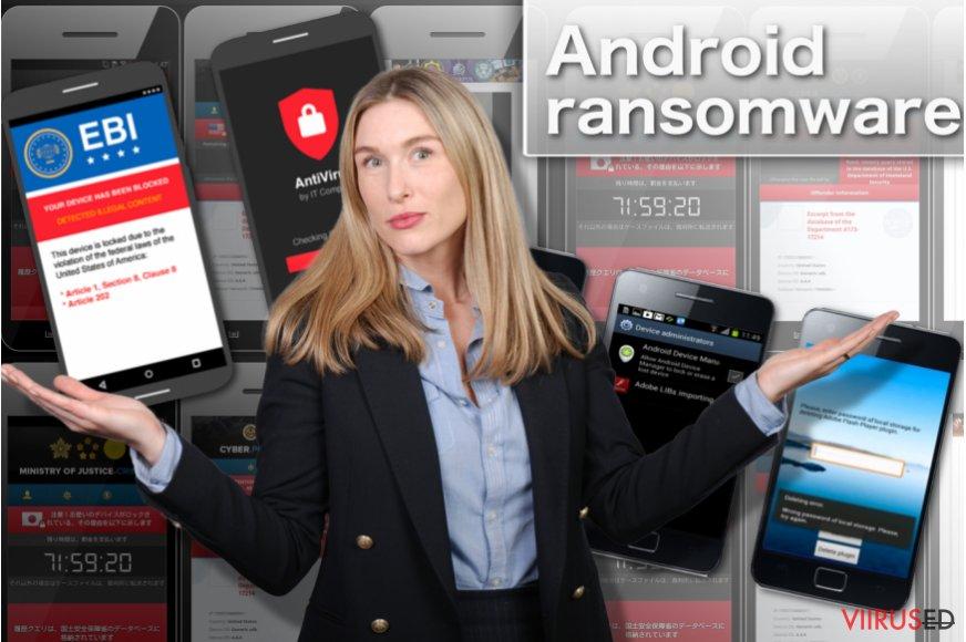 Android ransomware-viirus hetktõmmis