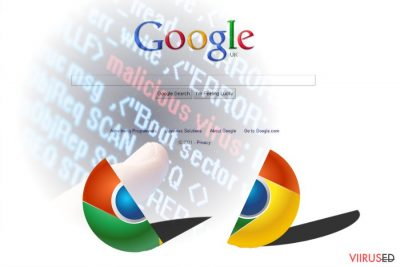 Chrome'i viiruse pilt