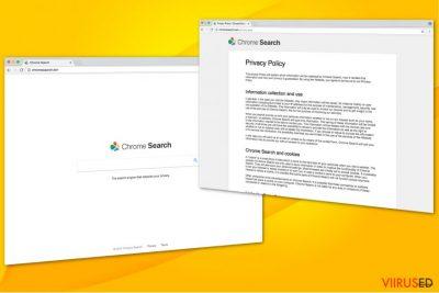 Chromesearch.win viiruse illustratsioon