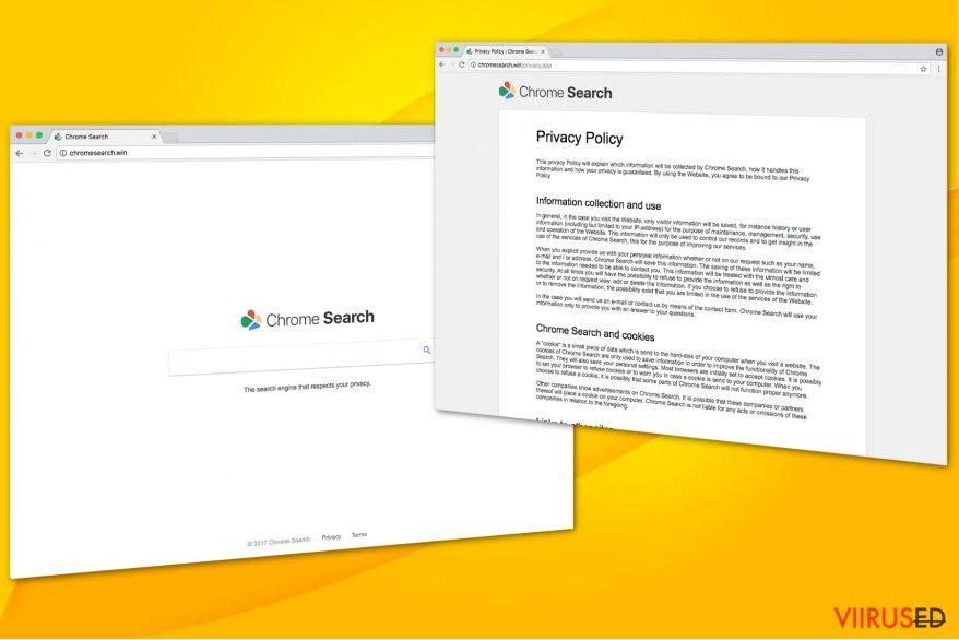 Chromesearch.win virus illustration