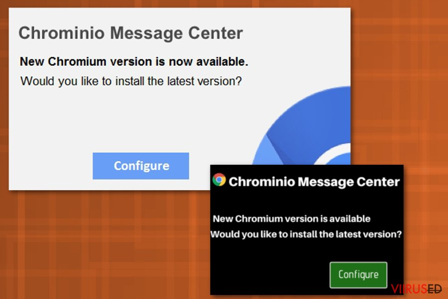 Chrominio Message Center viirus