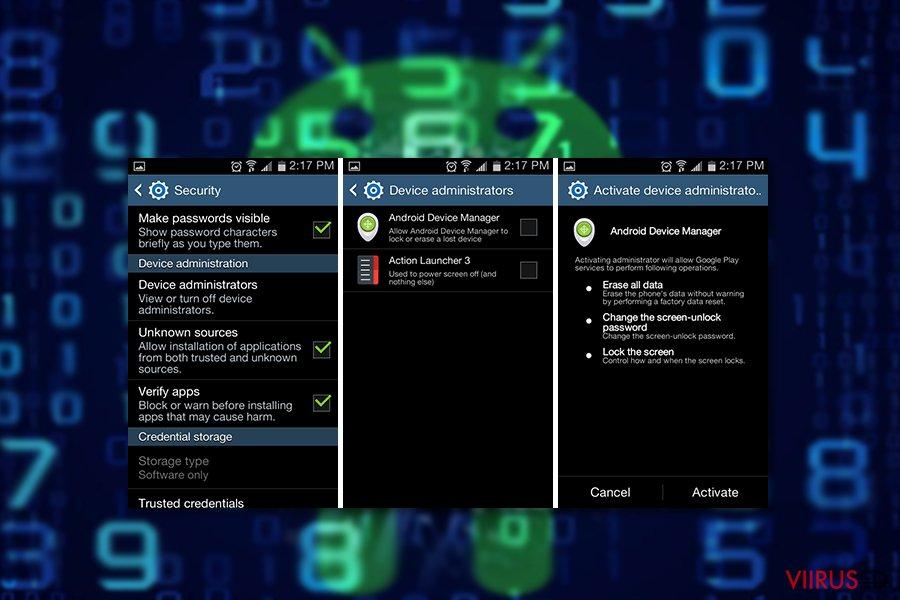 Androidi viiruse com.google.provision näidis