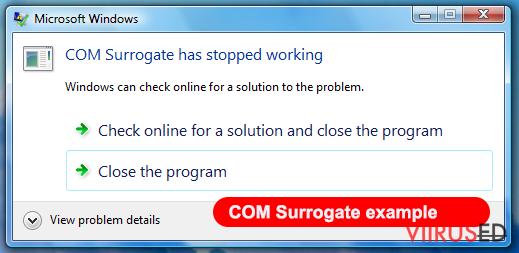 COM surrogate viirus