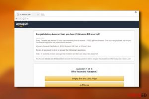 """Congratulations Amazon User"" viirus"