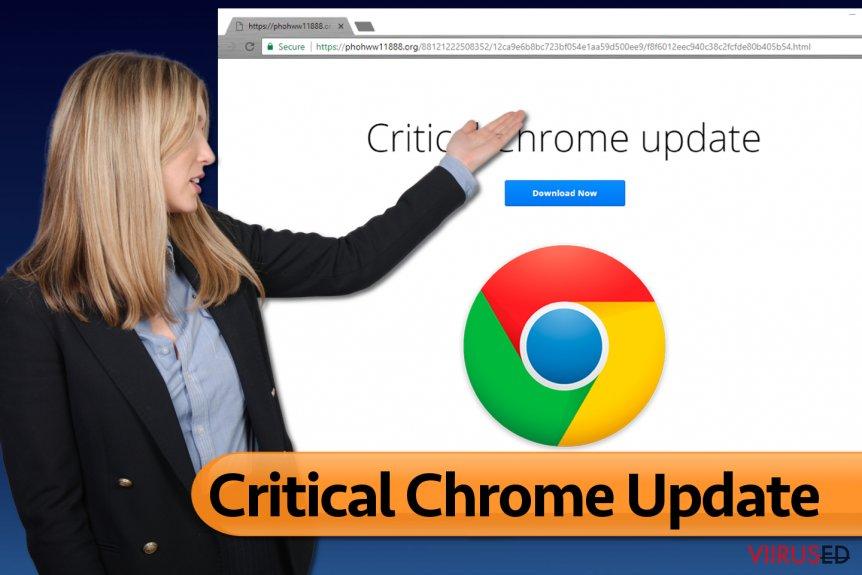 Critical Chrome Update viirus