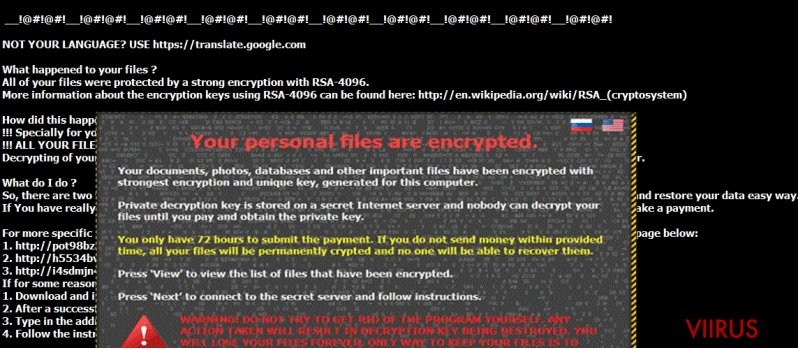 The picture revealing CryptXXX 3.0 virus
