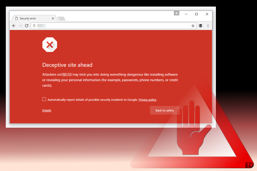Deceptive Site Ahead warning message