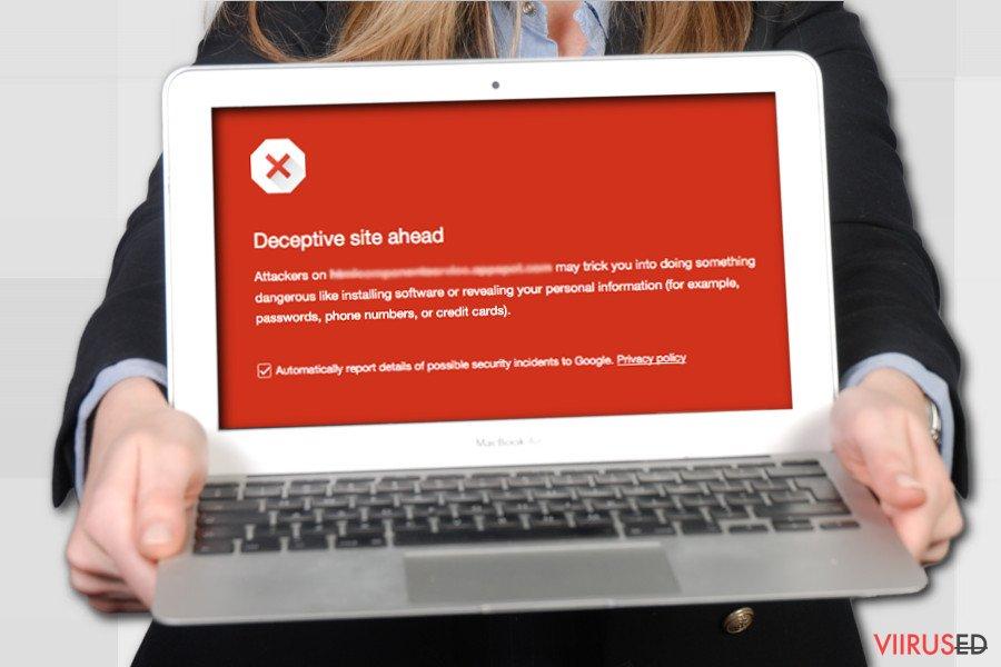 Deceptive Site Ahead hoiatus Google's