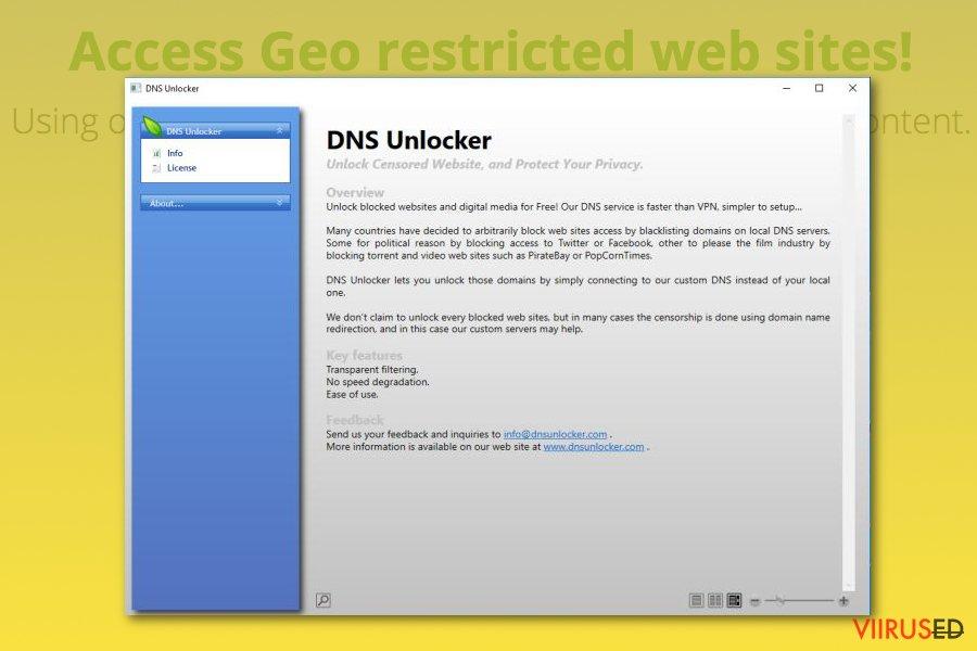DNS Unlocker reklaamvara