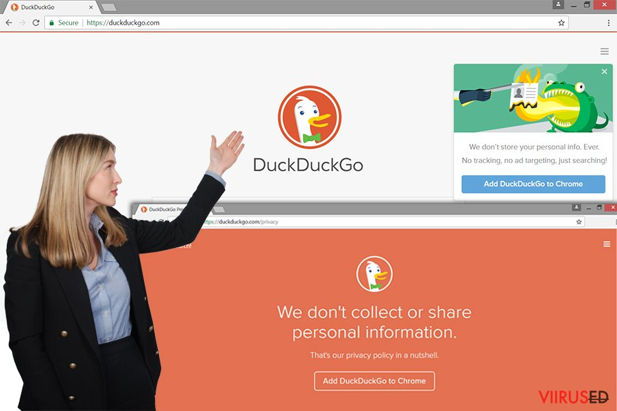 DuckDuckGo reklaamvara veebileht