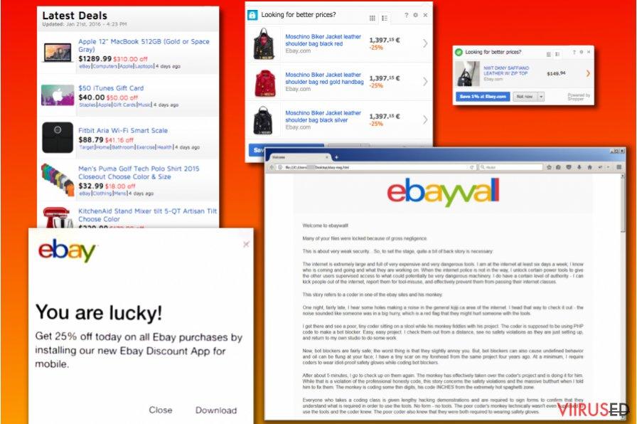 eBay viiruse versioonid
