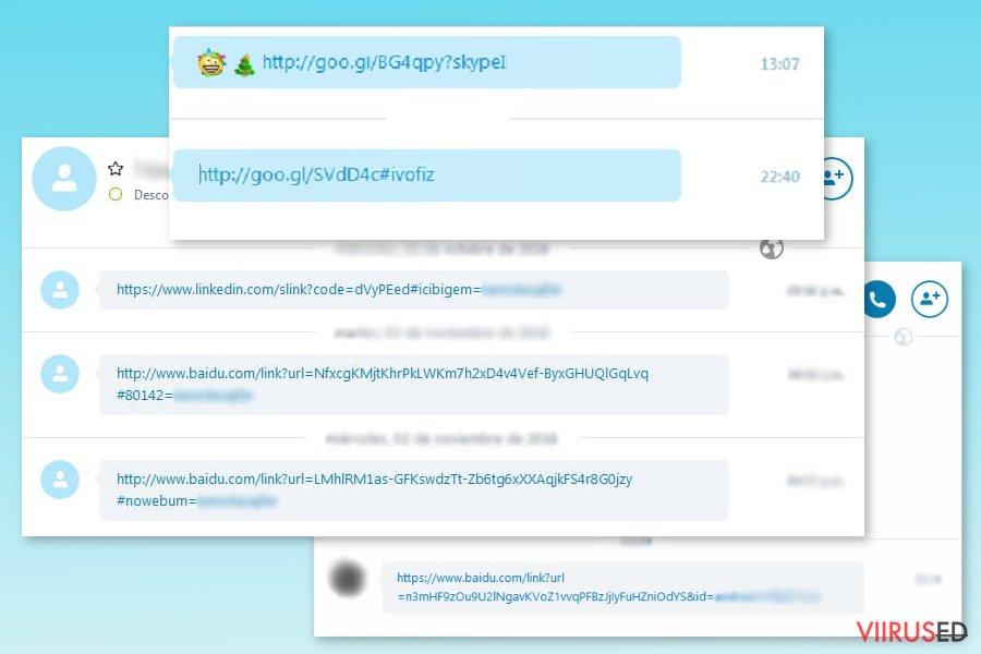 Skype viiruse näited
