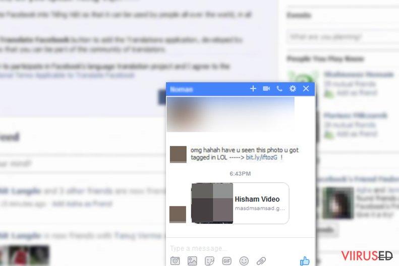Facebook viirus hetktõmmis