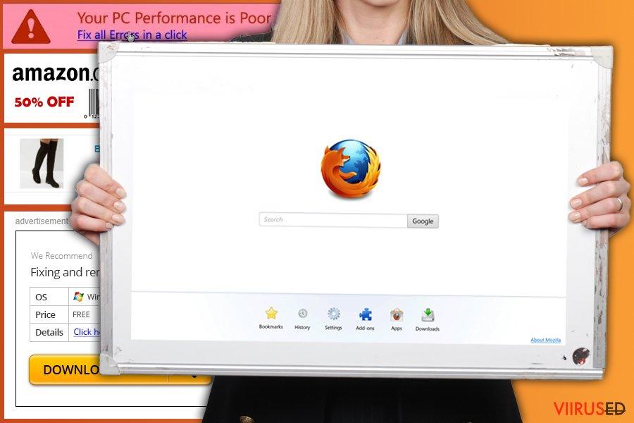 Firefox ümbersuunamisviiruse pilt