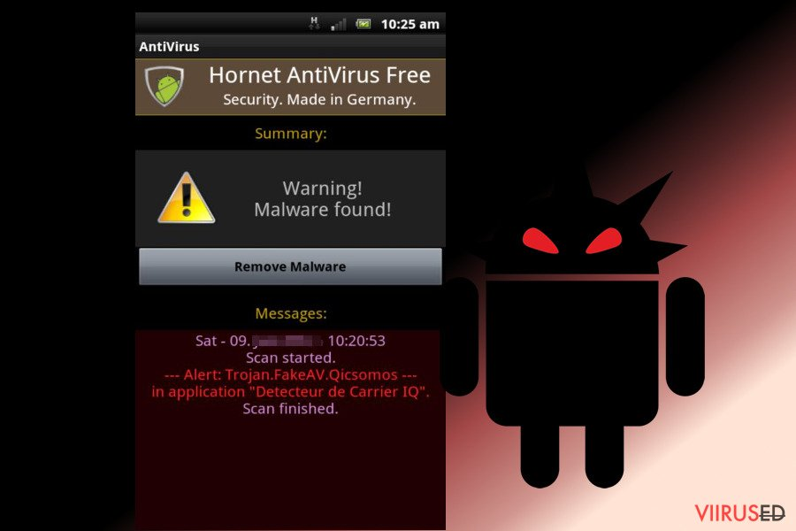 Androidiviirus hetktõmmis