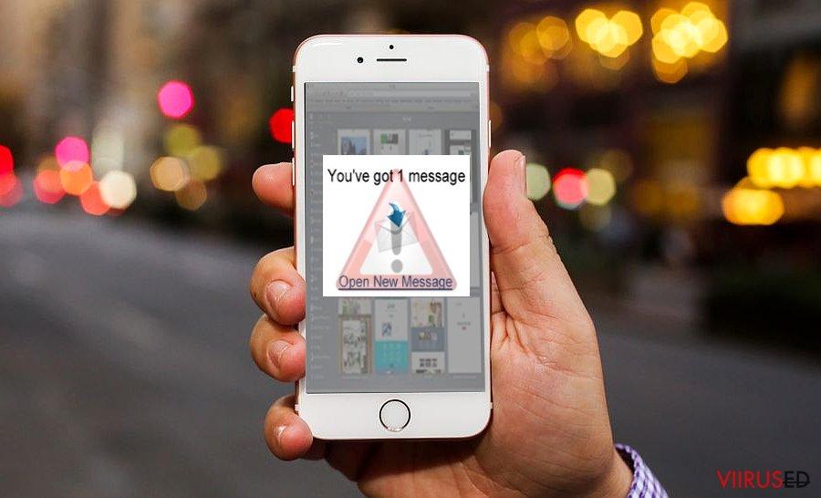 Pildil on näha iOS viirust