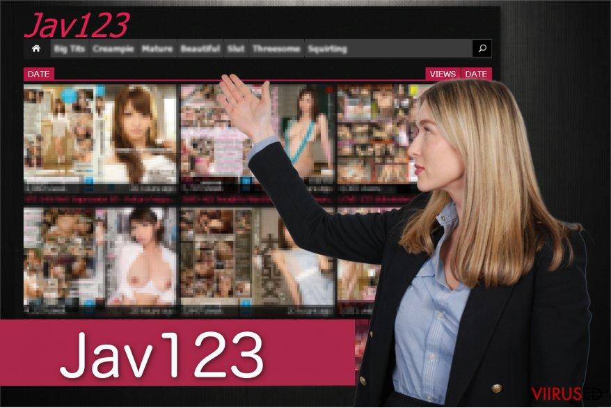 Jav123 ümbersuunamise ekraanitõmmis
