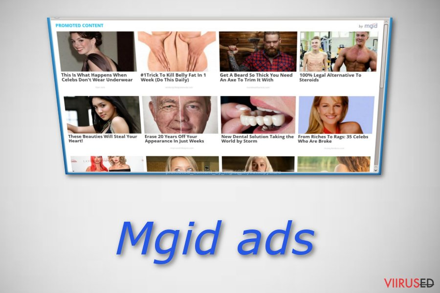 """Promoted Content by mgid"" ads"