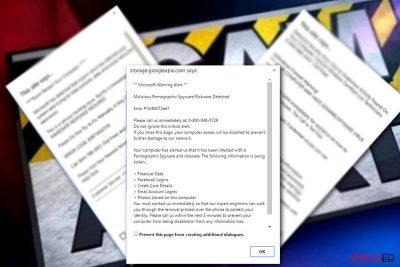 """Microsoft Warning Alert"" viiruse pilt"