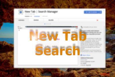 Pildil on näha New Tab Search-i Chrome-i veebipoes