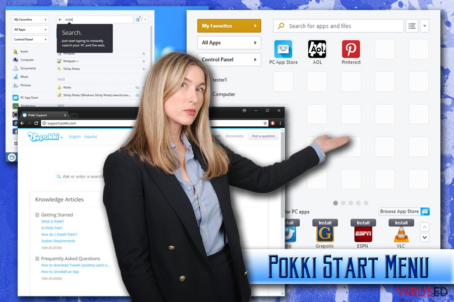 Pokki Start Menu viirus