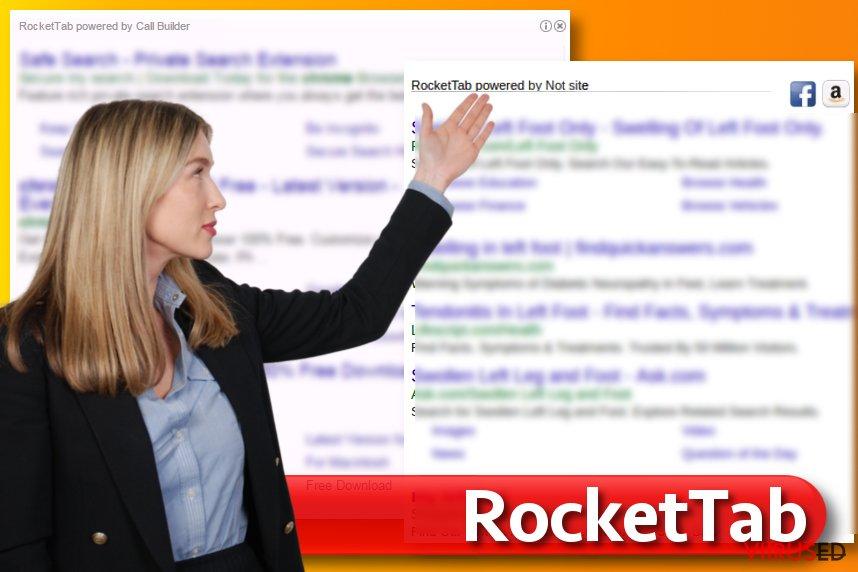 RocketTab viirus otsingutulemustes