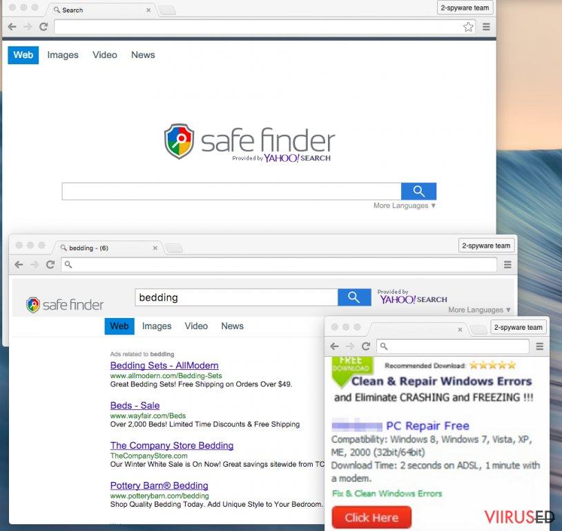 Safe Finder viirus hetktõmmis