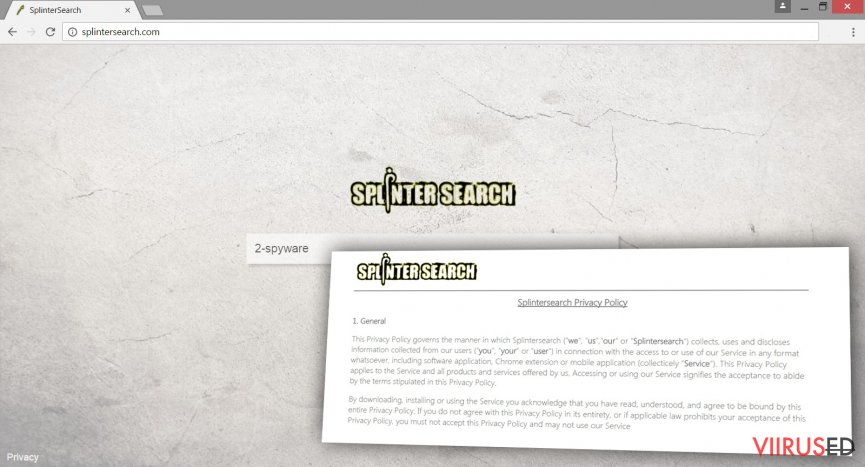 Splintersearch.com viirus