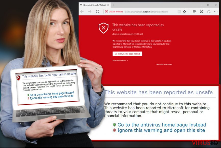 """This website has been reported as unsafe"" viirus"
