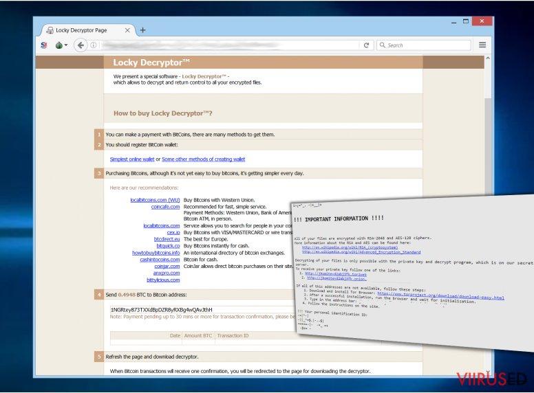 Thor ransomware belongs to Locky malware family