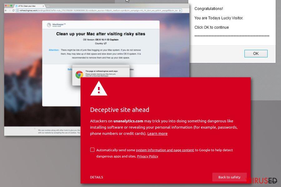 Unanalytics.com viirus