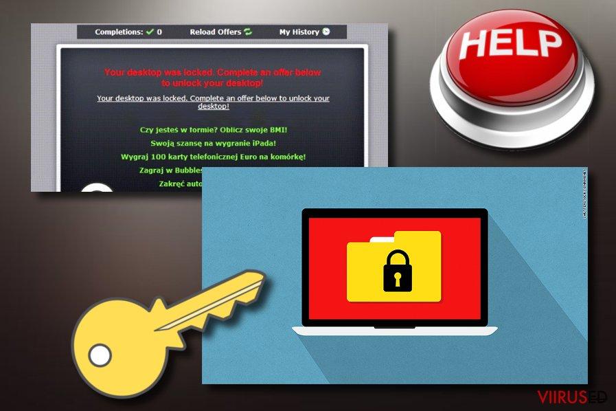 """""""Unlock This Page to Continue"""" lunavaratüüpi viirus"""