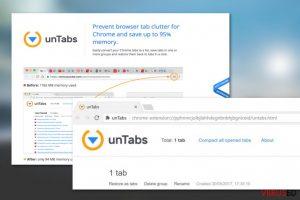 unTabs extension viirus