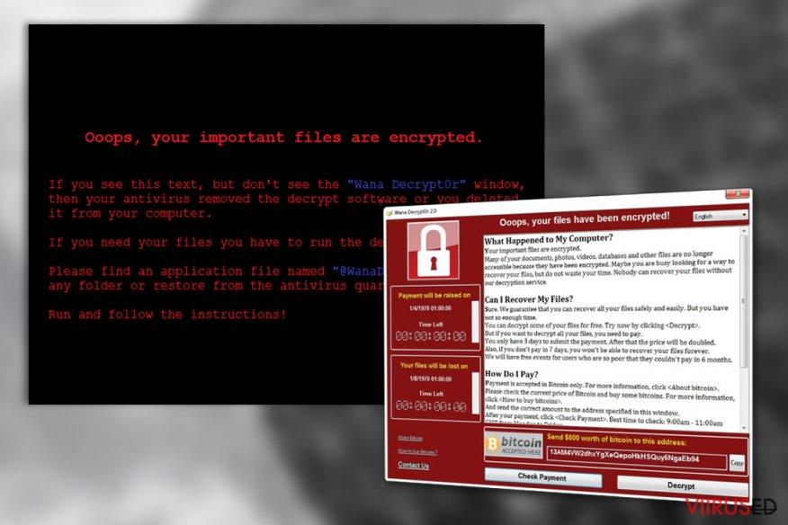 WanaCrypt0r viirus