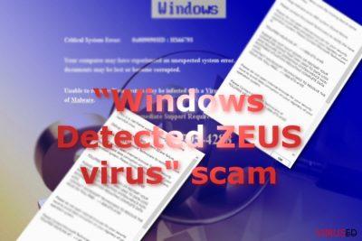 """Pildil on näha """"Windows Detected ZEUS"""" pettuse sõnumeid"""