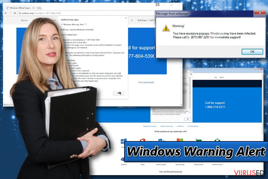 Windows Warning Alert näide
