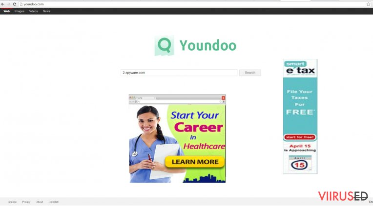 The image displaying youndoo.com