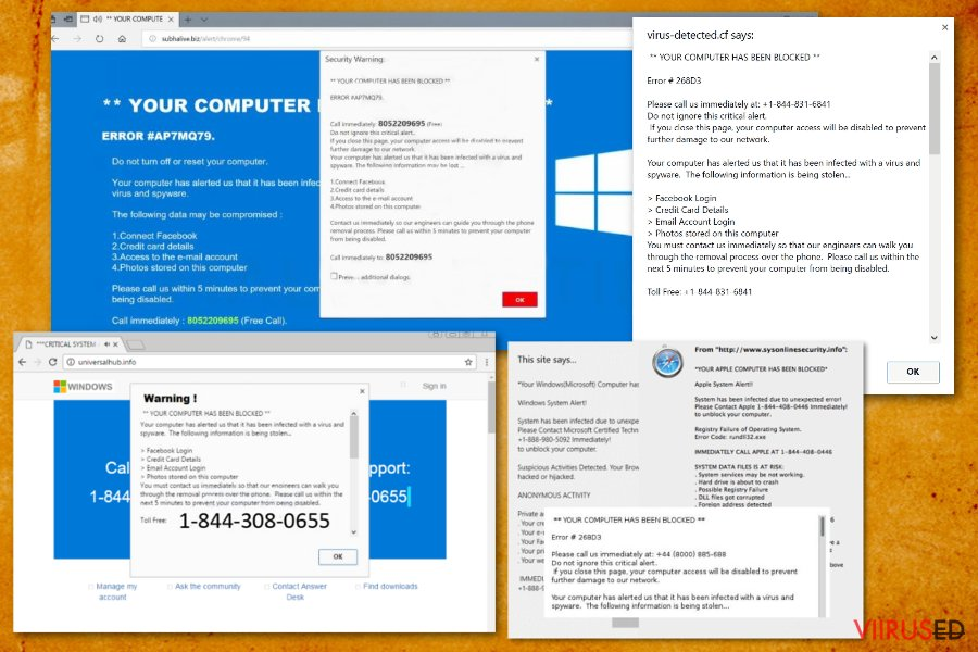 """""""Su arvuti on blokeeritud"""" viirus hetktõmmis"""